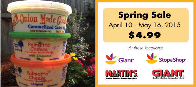 OMG Caramelized Onion Dip on sale at Giant Foods, Stop and Shop, Martins Food Markets for $4.99 until May 16